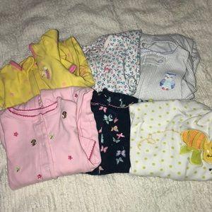 6 month footed onesie bundle